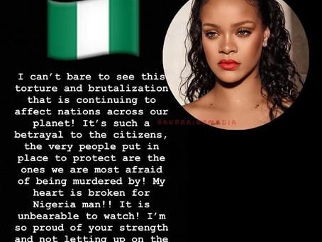 "#EndSARS: ""It Is Unbearable To Watch, My heart Is Broken For Nigeria"" - Rihanna"
