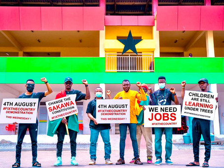 Ghanaians Fired Up For #FixTheCountry Demo (Pics+Video)