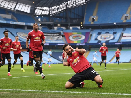 United Fend Off Rivals, City With A 2-0 Win In Manchester Derby At Etihad Stadium (Highlights)