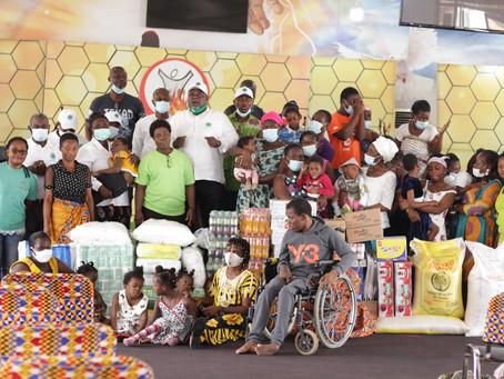 Atta Mills Institute Donates Food Stuffs To YOA Disability Foundation In Memory Of Late Prez (Video)