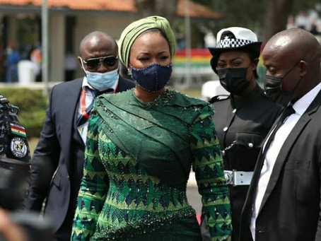 Samira Bawumia Steals Show At Akufo-Addo's Inauguration With Stunning Dress Sense (Picture)