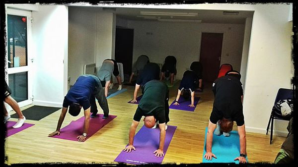 Yoga for men class at GTC