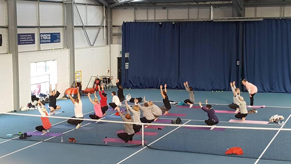 Beginners Yoga class at GTC