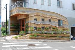 左官技術で 緑化外壁