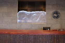 透明彫刻で氷のような表現