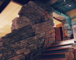 品川の大きな石膏偽岩