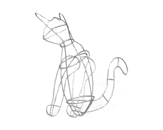 Sitting Cat topiary frame; front view.