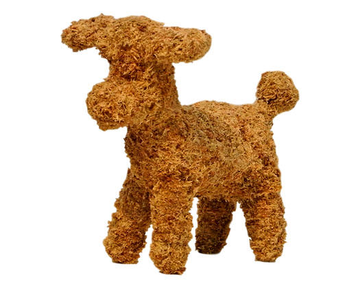 Small Poodle topiary stuffed; front view.