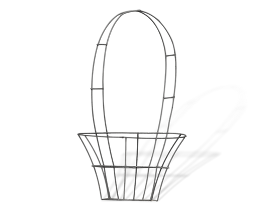 Large Basket topiary frame; front view.