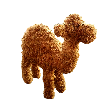 Small Camel topiary frame; front view.