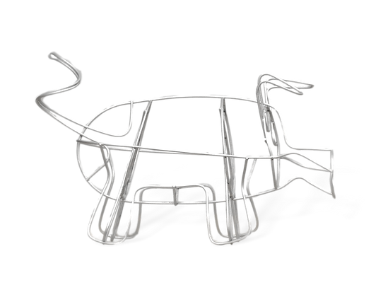 Medium Pig topiary frame; side view.