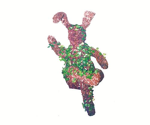 Crossed Leg Bunny - Planted