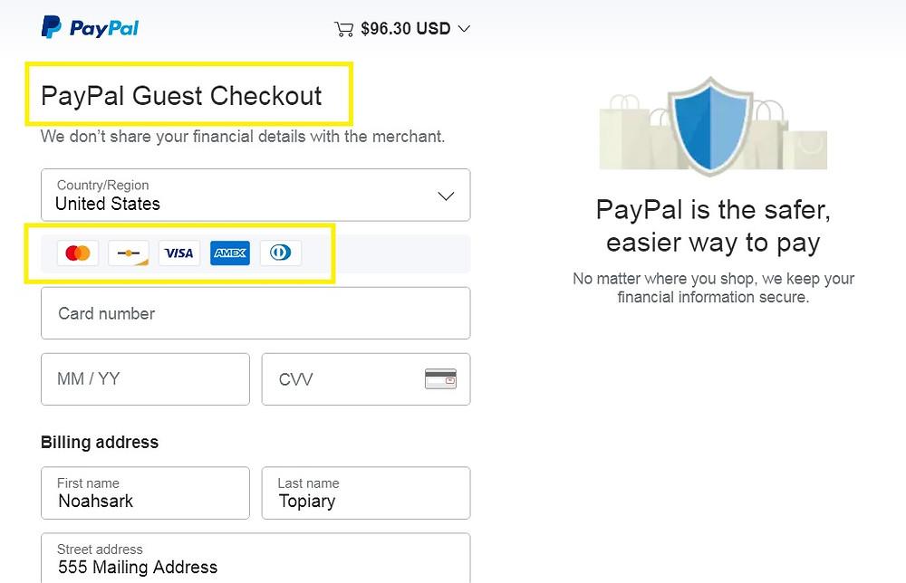 Form to enter debit or credit card details.
