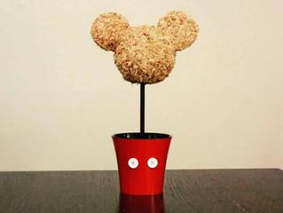Mickey Head Topiary with Planter Pot