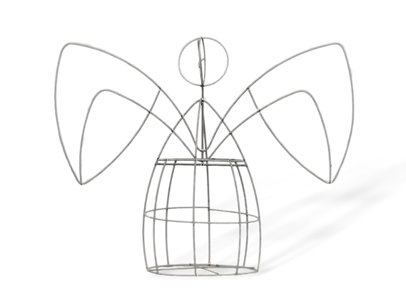Large Angel topiary frame; front view.