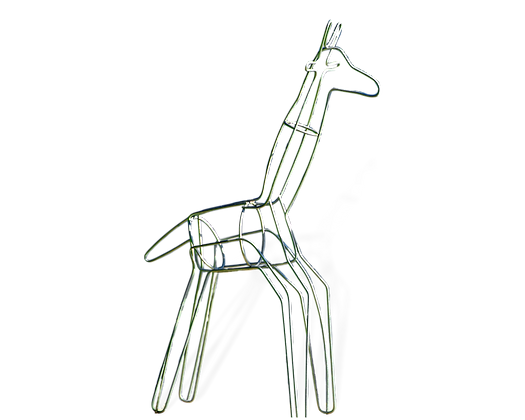 Small Giraffe topiary frame; side view.
