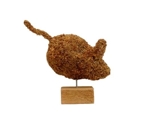 Small Mouse topiary stuffed; side view.