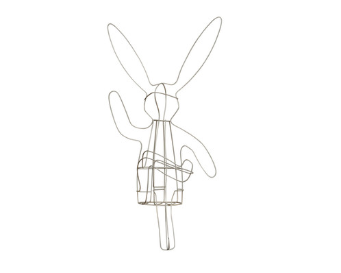 Crossed Leg Bunny Topiary - Frame | Noah\'s Ark T