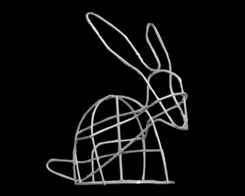Small Bunny Topiary - Frame | Noah\'s Ark Topiary