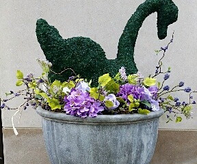 Spring Easter topiary ideas; Festival Appearances.