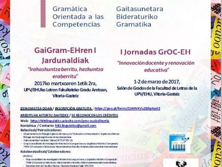 ¡Llegan las I Jornadas GrOC/GaiGram - Euskal Herria!