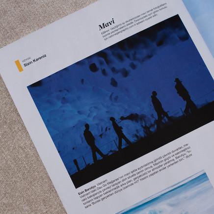 """""""Mavi"""" Temalı Fotografım National Geographic Türkiye Ocak'16 Sayısında !"""