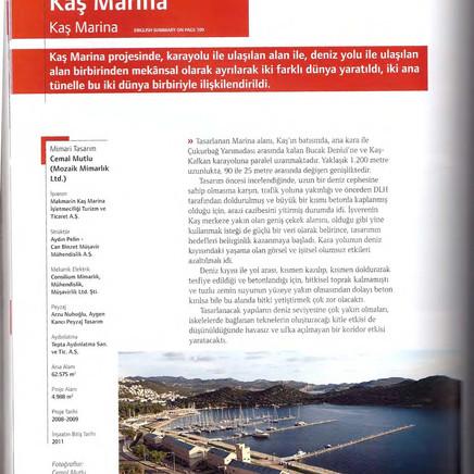Kas Marina, Yapı Dergisi
