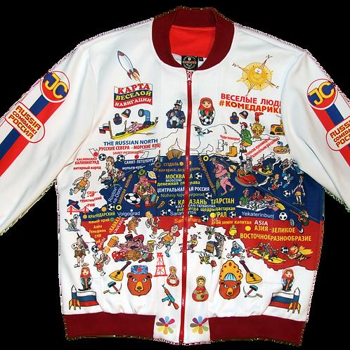 Jacket-Bomber Russia Fun Club/ Куртка-Бомбер Клуба Веселая Россия