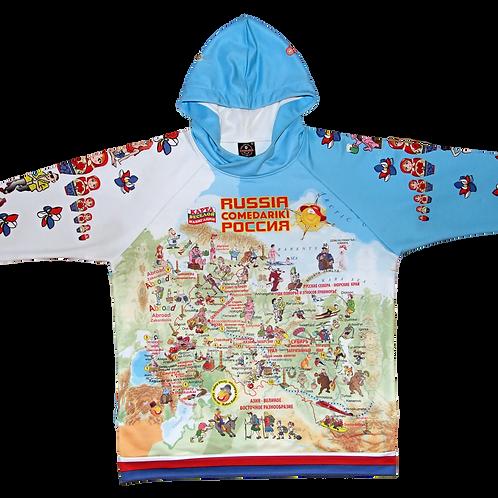 "Jacket-Hoodie Russia Fun Map/Куртка ""Худи"" Веселая Карта Россия"""