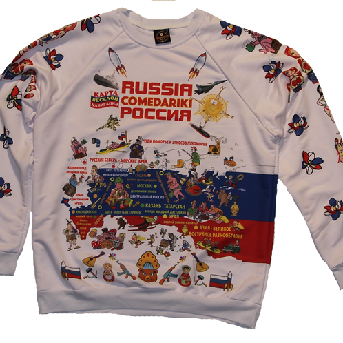 Sweet-Shirt Russia Fun Club/Свитер Клуба Веселая Россия