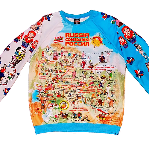Sweet-Shirt Russia Fun Map/Свитер Карта Веселая Россия