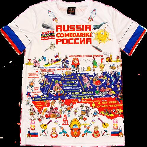 РОССИЯ ФАН-ФУТБОЛКА/RUSSIA FUN T-SHIRT