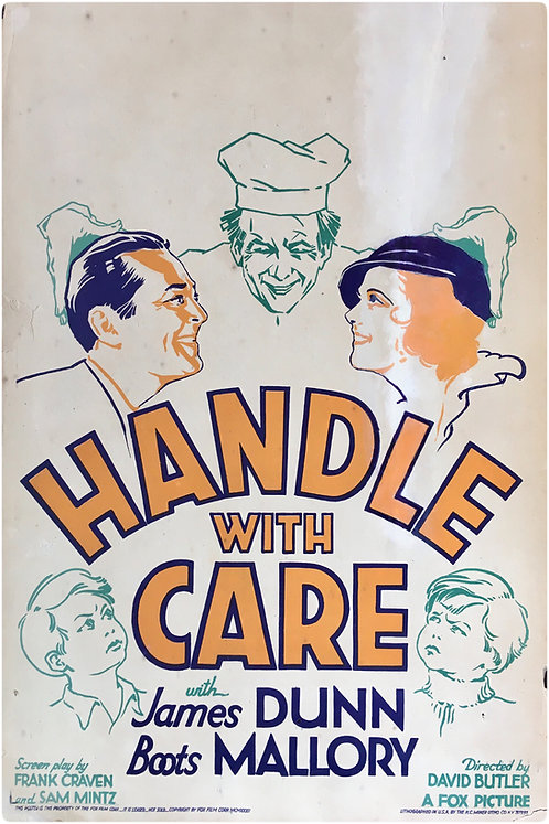 1932 US Window Card 'Handle With care'