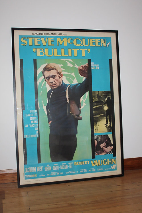 1969 2nd Release Italian 4 Foglio Bullitt Film Poster