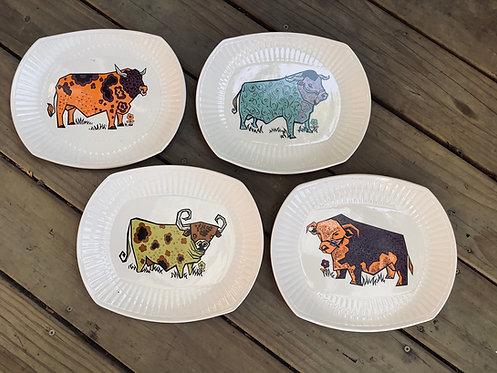 Retro Beefeater Ironstone Plates