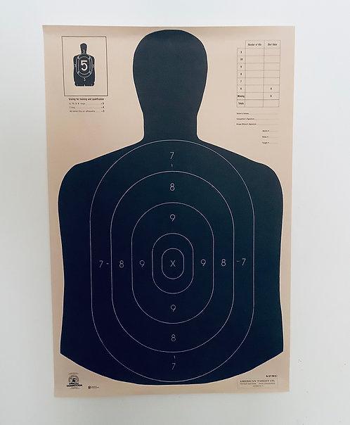 Vintage US Law Enforcement Target Poster