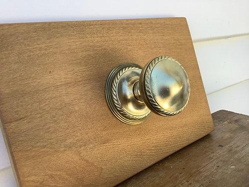 Georgian Brass Front Door Pull / Knob