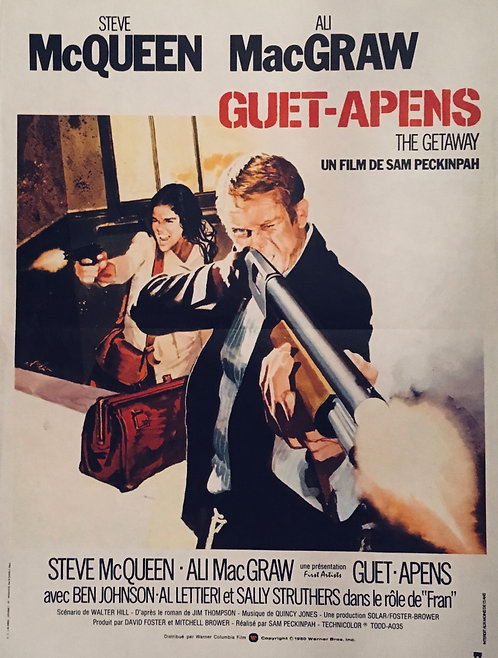 The Getaway 1980 French Film Poster