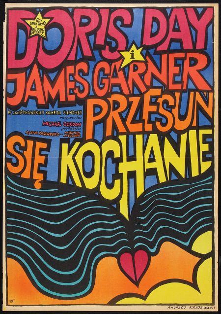Move Over Darling Original Polish Film Poster/Framed