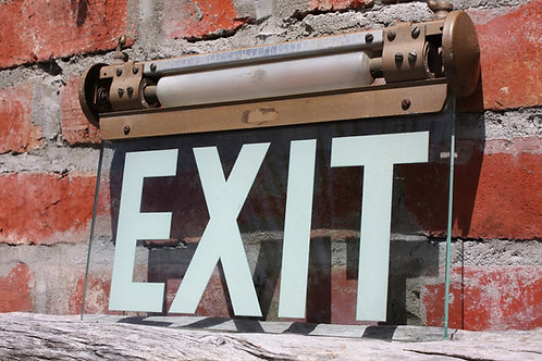 1920's / 30's Theatre Glass Exit Signs