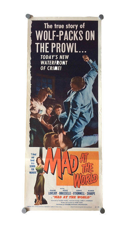 Mad At The World US Insert Film Poster 1955