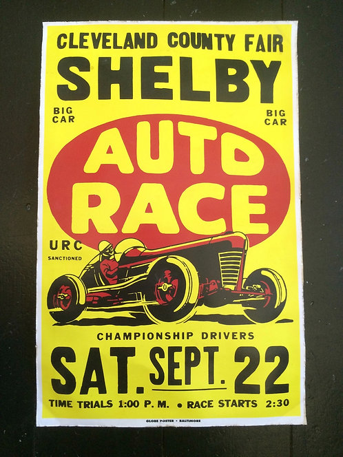 Vintage USA Road Race Advertising Poster