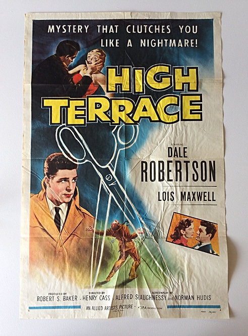 1956 High Terrace Original US One Sheet