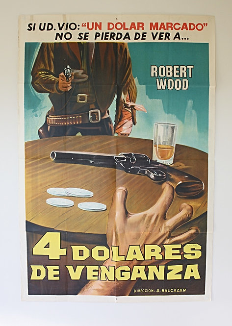 1966 Four Dollars for Vengeance Original Film Poster