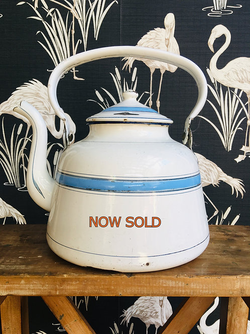French Enamel kettle