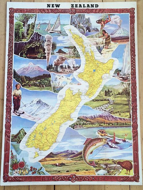 Original NZ Travel / Tourism Poster