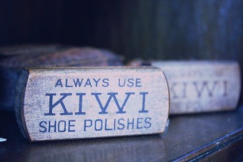 Vintage Kiwi Boot Polish Brush Set