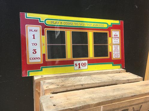 Bally / Las Vegas Glass Slot Panel