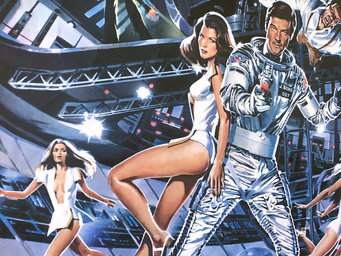 Moonraker original 1979 British Quad Film Poster