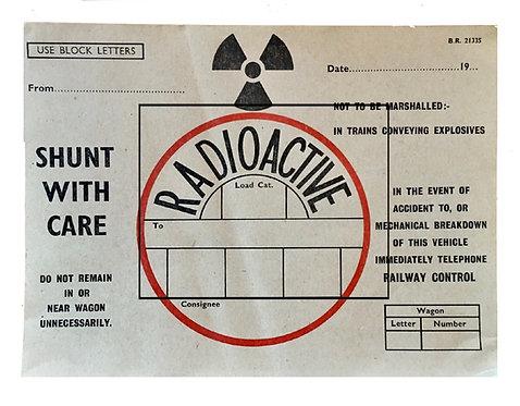 Vintage Goods Train Radioactive Ticket